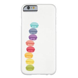 Kawaii Regenboog gestapelde Macarons Barely There iPhone 6 Hoesje