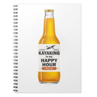 Kayaking is Mijn Gelukkig Uur Ringband Notitieboek