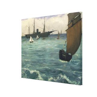 Kearsarge in Boulogne Canvas Afdruk