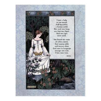 """Keats """"de Dame"""" Victoriaans Briefkaart van La van"""