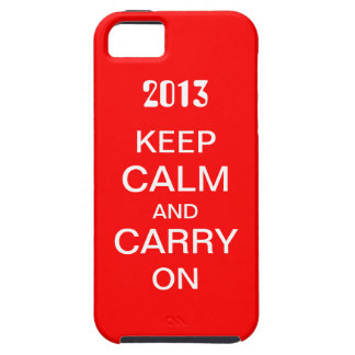 Keep Calm and Carry On iPhone5 hoesje iPhone 5 Hoesje