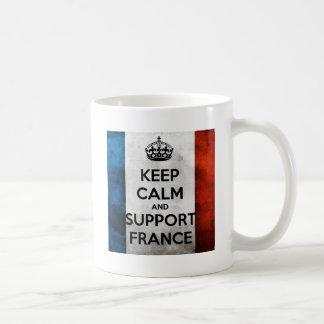 Keep Calm and Steun Frankrijk Basic Witte Mok