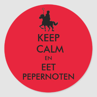 Keep Calm  en Eet Pepernoten Sticker