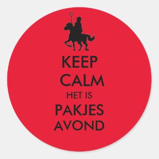 Keep Calm het is Pakjes Avond Sticker
