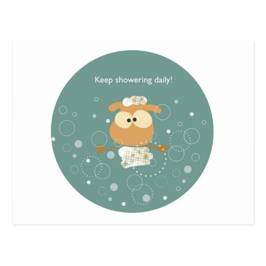 Keep showering daily! briefkaart
