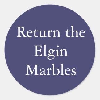 Keer de sticker van het Marmer terug Elgin
