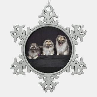 Keeshonden voor het Ornament van het Tin van de