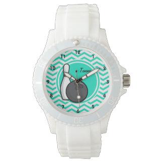 Kegelen; De Groene Chevron van Aqua Horloges