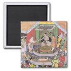 Keizer Akbar (r.1556-1605) door zijn fos wordt ond Magneet