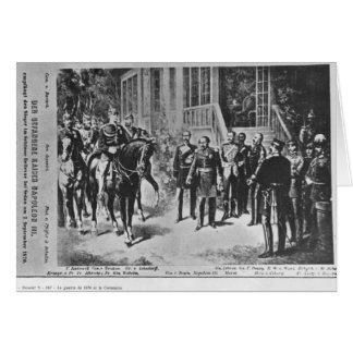 Keizer Napoleon III en Kaiser Wilhelm I Wenskaart