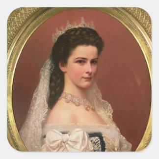 Keizerin Elizabeth van Beieren in Hongaar Vierkante Sticker