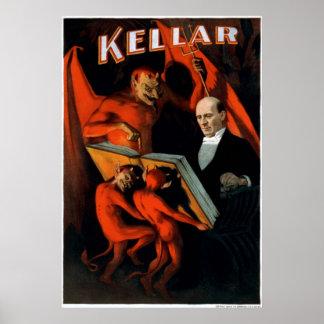 Kellar en zijn bedienden poster