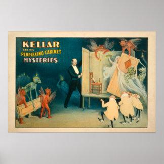 Kellar en zijn Verwarrende Geheimen Magi van het Poster