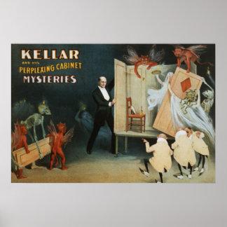 Kellar en zijn verwarrende kabinetsgeheimen poster