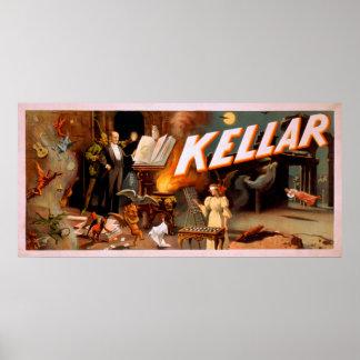 Kellar in een Hoogtepunt van de Zaal van Magisch Poster
