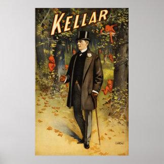 Kellar in het bos met demonnen poster