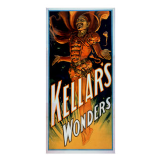 Kellar is Gekleed als Magische Duivel benieuwd Poster