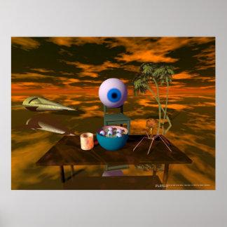 Kelner!! Er is een oog in mijn soep… Poster