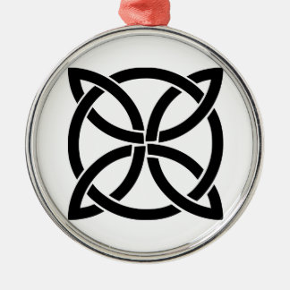 Keltisch knoopIerland oud symbool het heidense Zilverkleurig Rond Ornament