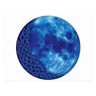 Keltische Blauwe Maan Briefkaart