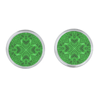 Keltische Cufflinks van de Caleidoscoop van de Verzilverde Manchetknopen