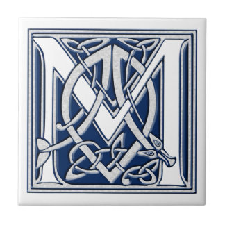 Keltische Draak Aanvankelijk M Keramisch Tegeltje