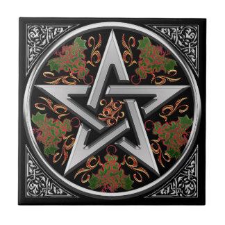 Keltische Draak Pentagram Tegeltje