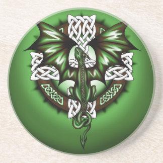 Keltische Draak Zandsteen Onderzetter