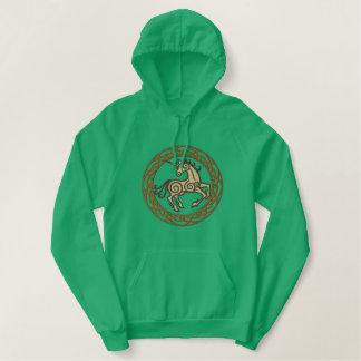 Keltische Eenhoorn Geborduurde Sweater Hoodie