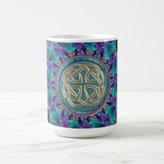 Keltische Fractal Mandala Koffiemok