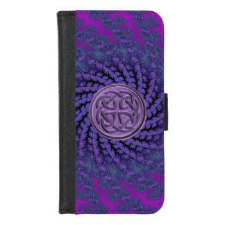 Keltische Fractal van de Knoop iPhone 6 plus het iPhone 8/7 Portemonnee Hoesje