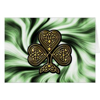 Keltische gouden klaverSt Patrick dagkaart Briefkaarten 0
