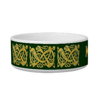 Keltische Gouden Slang op de Donkergroene Kom van