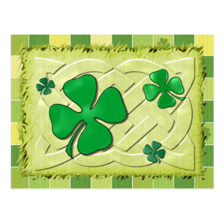 Keltische Ierse 3D van de Klaver Briefkaart