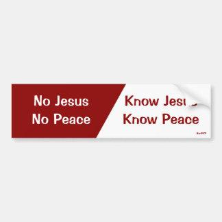 Ken Jesus, ken Vrede Bumpersticker