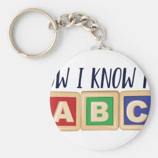 Ken Mijn ABC Basic Ronde Button Sleutelhanger