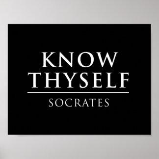 Ken Thyself - Socrates Poster