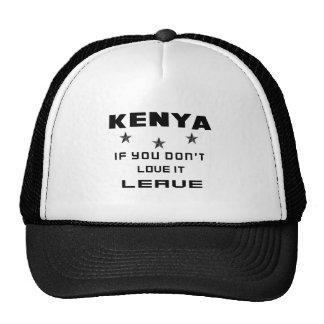 Kenia als u niet van het houdt, gaat weg pet met netje