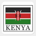 Kenia Vierkante Sticker