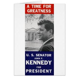 Kennedy - een Tijd voor Grootheid Wenskaart