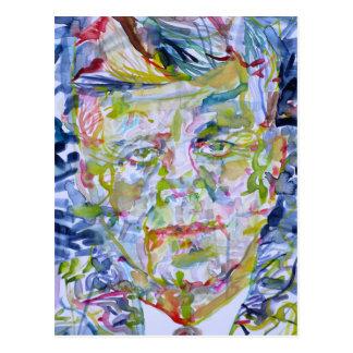 kennedy john fitzgerald - waterverf portrait.1 briefkaart
