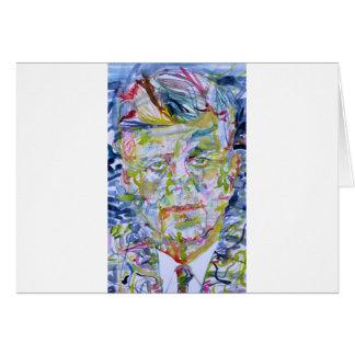 kennedy john fitzgerald - waterverf portrait.1 briefkaarten 0