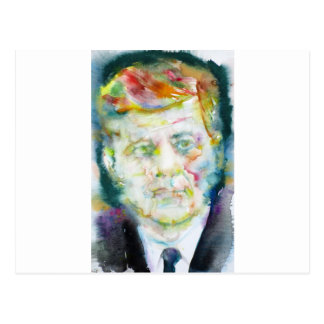 kennedy john fitzgerald - waterverf portrait.2 briefkaart