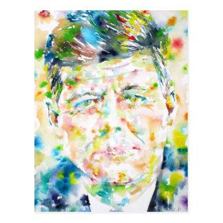 kennedy john fitzgerald - waterverf portrait.3 briefkaart