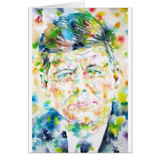kennedy john fitzgerald - waterverf portrait.3 briefkaarten 0