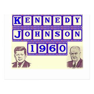 Kennedy-Johnson 1960 Briefkaart