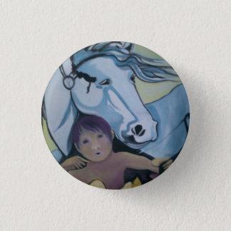 Kenteken: Cupido en zijn paard Ronde Button 3,2 Cm