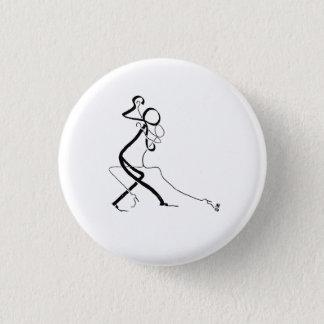 Kenteken met twee dansers van de Tango Ronde Button 3,2 Cm