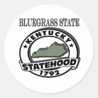 Kentucky Bluegrass Statehood Ronde Sticker