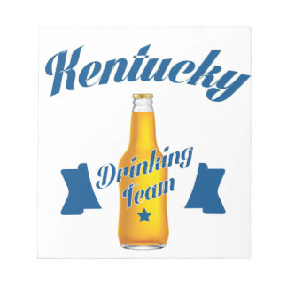 Kentucky die team drink notitieblokken